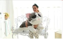 super large plush sad Cheese cat toy big cry Cheese cat doll gift about 120cm