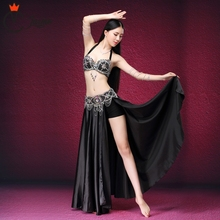 Stage & Dance Wear 2017 Belly Dancing Clothes Oriental Outfits Sexy Lace Beaded Costume Bra Belt Skirt