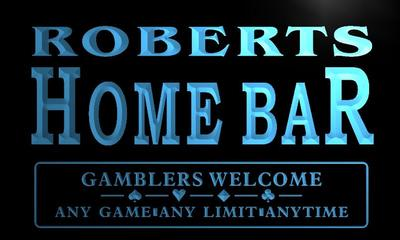x1043-tm Roberts Home Bar Poker Room Custom Personalized Name Neon Sign Wholesale Dropshipping On/Off Switch 7 Colors DHL