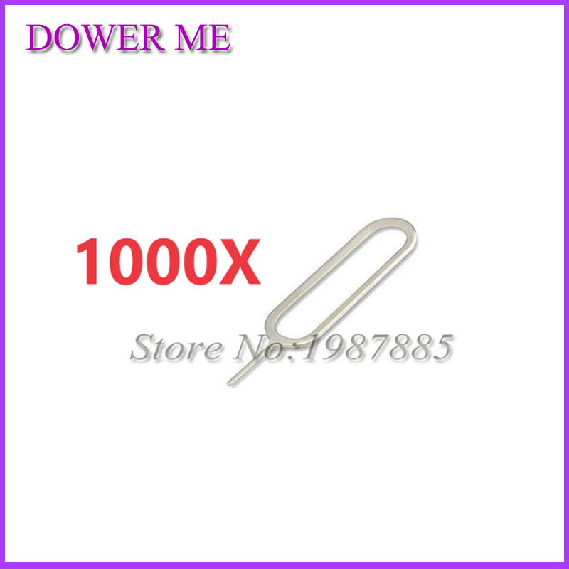 1000 Pcs/lot Sim Card Tray Remover Eject Ejector Pin Key open Tool for iPhone 7 4s 5 5s 5c 6 6s plus for iPad for SamSung xiaomi