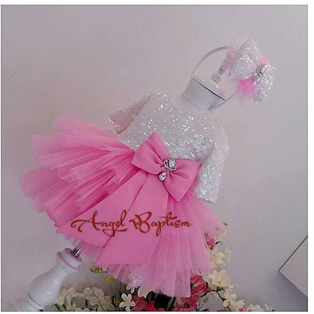Cute pink flower girl dress half sleeve sliver sequin tulle toddler pageant costume kids Princess dress tutu outfits цена