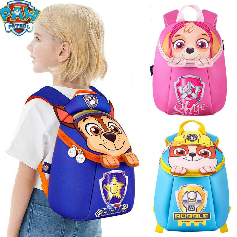 High Quality HOT Genuine Paw Patrol Waterproof BAG Kids Knapsack Patrulha Canina Chase SKYE CUTE Bag Children Toy Birthday Gift