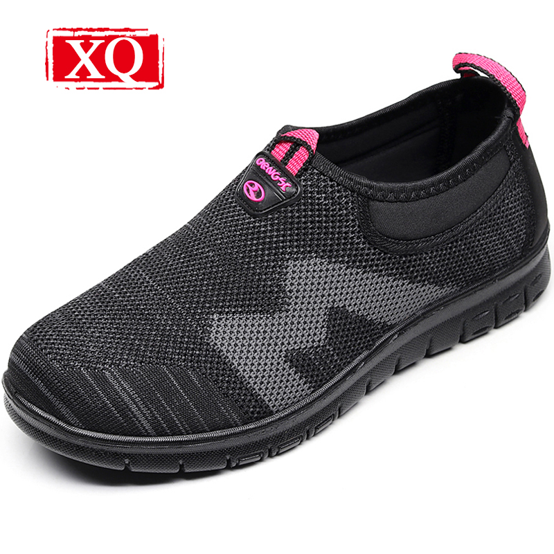 XQ 2018 Spring New Fashion Women Casual Shoes Antiskid Flats Breathable Loafers Lightweight Big Size Shoes Slip-on Shoes L148 hot 2017 new fashion womens weave shoes spring summer mixed color breathable casual shoes flats slip on loafers tenis feminino