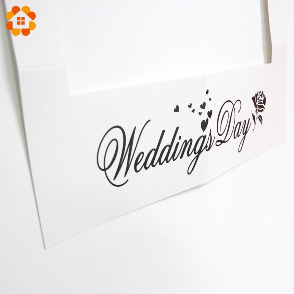 Hot!1PC Wedding Photo Frame Creative Photo Props Wedding Favors DIY ...