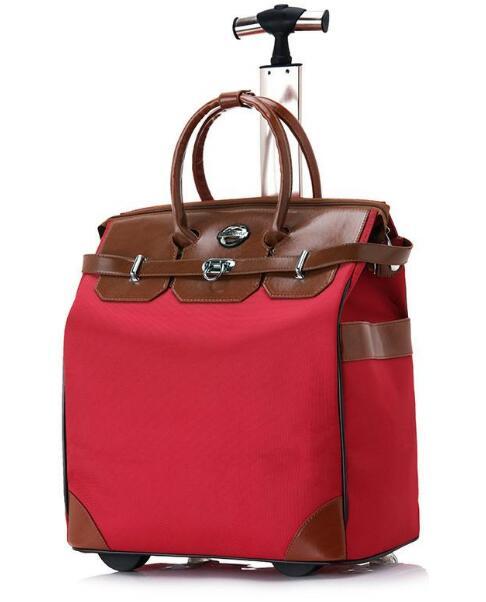 18/20 pouces femmes sacs de voyage sac à main valise Trolley bagages à roulettes sac à dos de voyage sur roues sac à main portable léger