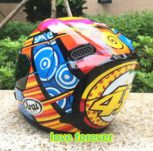 Arai motorcycle helmet four seasons locomotive run full face cover all helmet Ms male helmet summer color flower