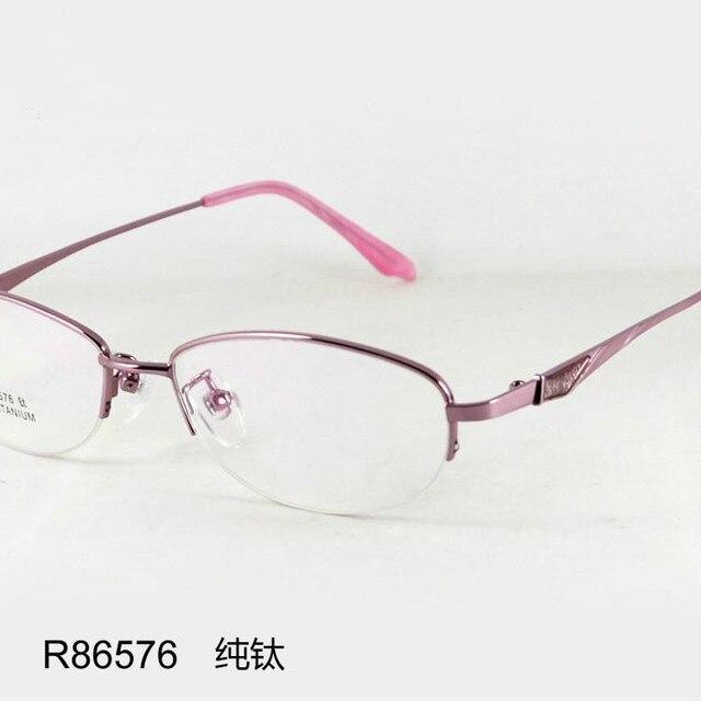2016 ЖЕНЩИНЫ титан ПОЛОВИНА обод марка очки рамки Женщин оптически рамки очковые оправы рецепт глаз очки FREMENS
