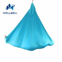 Customized Length -- Aerial Flying Yoga Hammock Fabric Swing Trapeze Anti-Gravity Inversion Aerial Traction touch Device(China)