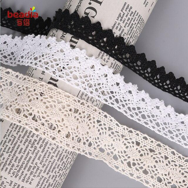 10 Yardmenge Zufällige Baumwolle Spitze Stoffkleidung Materialien