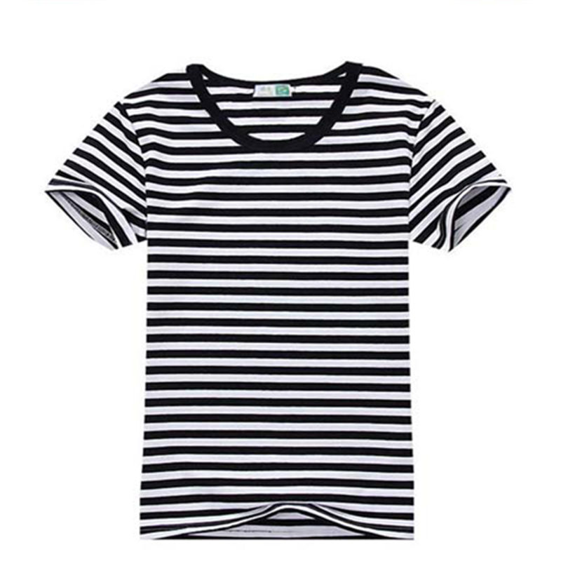 Promotional shirts, stripes T-shirts, men's short sleeves, pure cotton, round neck, Navy wind lovers, big yards, comfortable men