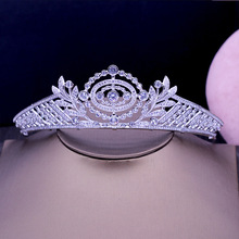 Fashion elegant retro Paved CZ zircon Palace crown wedding bride dinner banquet dressingBeauty tiaras hair jewelry free shipping