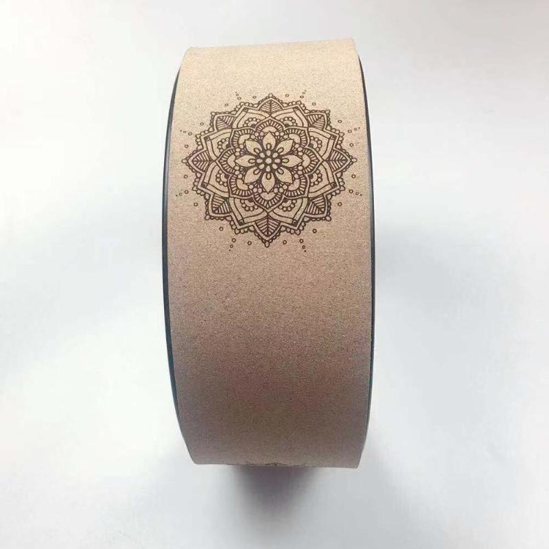 yoga wheel with mandala design