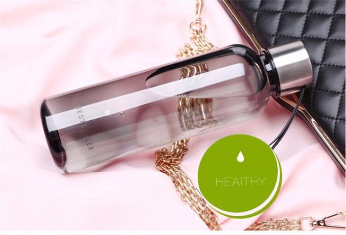 500ml Classical Portable Business Bottle High quality black Plastic Sport Creative water bottle bestseller travling