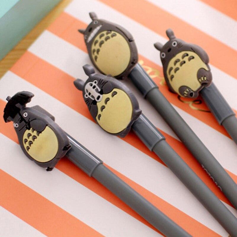 1 Pcs Creative Cute Cartoon Totoro Gel Pen 0.38mm Student Stationery Prize Signing Pen School Office Write Supplies 6
