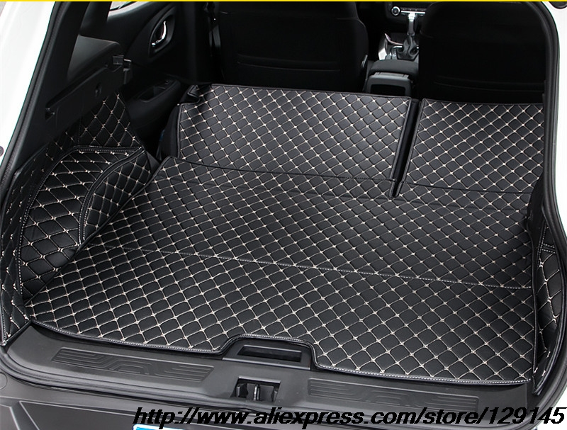 ФОТО   All surround car trunk mat for  Renault 2016 2017 Kadjar 3D TPE+XPE Anti-slip leather trunk pad Customized floor ma