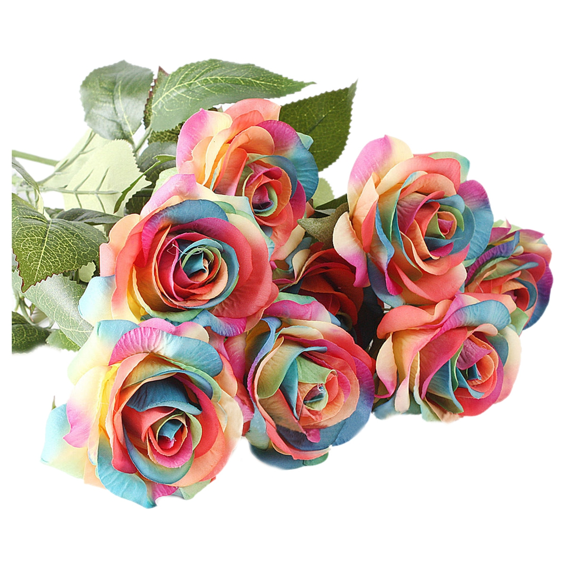 Online buy wholesale silk rainbow roses from china silk for Where to buy rainbow roses