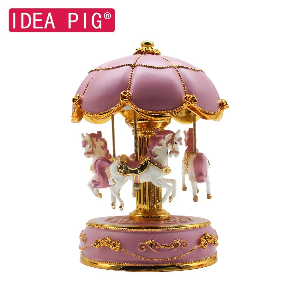 Merry-Go-Round boîte à musique chambre décoration cadeau bricolage en bois noël cheval boîte décor pour la maison joyeux anniversaire fête décor à la maison