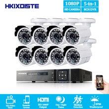 Охранных Камера Системы 8ch CCTV Системы 1080 P 2.0MP HD открытый Камера комплект видеонаблюдения 8ch DVR 1080 P HDMI видео Выход