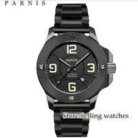 Моды Stlye Для мужчин смотреть автоматические часы Parnis 47 мм сапфир PVD Дело световой военный Для мужчин часы Механические наручные часы