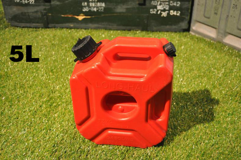 ФОТО 5L Explosion-proof Antistatic Spare Plastic Barrels Fuel Tank Of Car Motorcycle Gasoline Oil Container Fuel-jugs