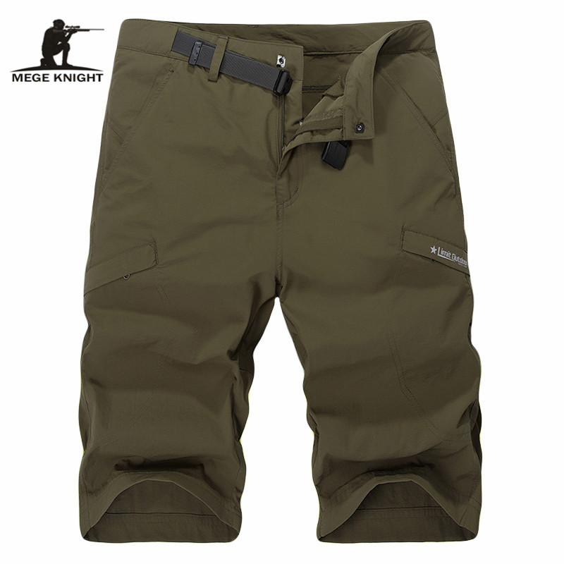 MEGE Men Summer Combat Swat Army Waterproof Shorts Quick Drying Trousers Men Summer Clothing