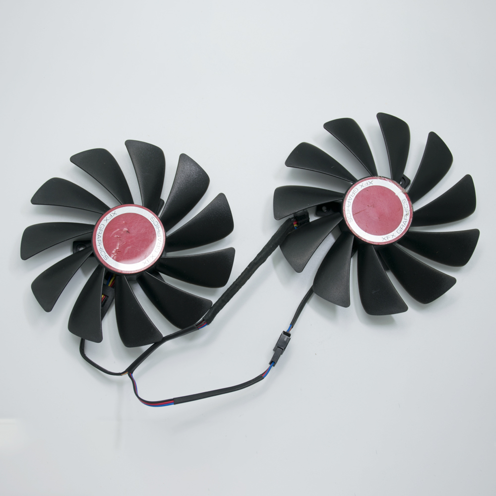 95MM CF1010U12S DC 12V 4Pin <font><b>Cooler</b></font> Fan Replace For XFX Radeon RX 570 580 590 4G <font><b>Vega</b></font> <font><b>56</b></font> 64 RX580 FDC10U12S9-C Graphics Card Fans image
