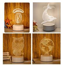 VOPPV LED Fortnite 3D Usb Children's Night Light Fixtures for Bedroom Lamparas Bedside Lava Lamp Luminary US Plug Night Light