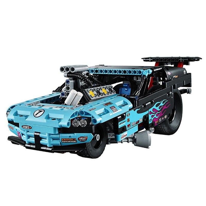 DECOOL Technic 2in1 Drag Racer Car Building Blocks Kit Bricks Set Classic Model City Toys Gift Marvel Compatible Legoe цена