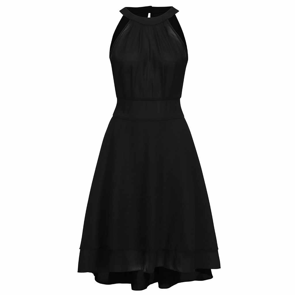 Women Dresses Evening Party Plus Size Summer Sundress Casual Bodycon Dress Elegant Sexy Chiffon Halter Black Red Vestidos Mujer