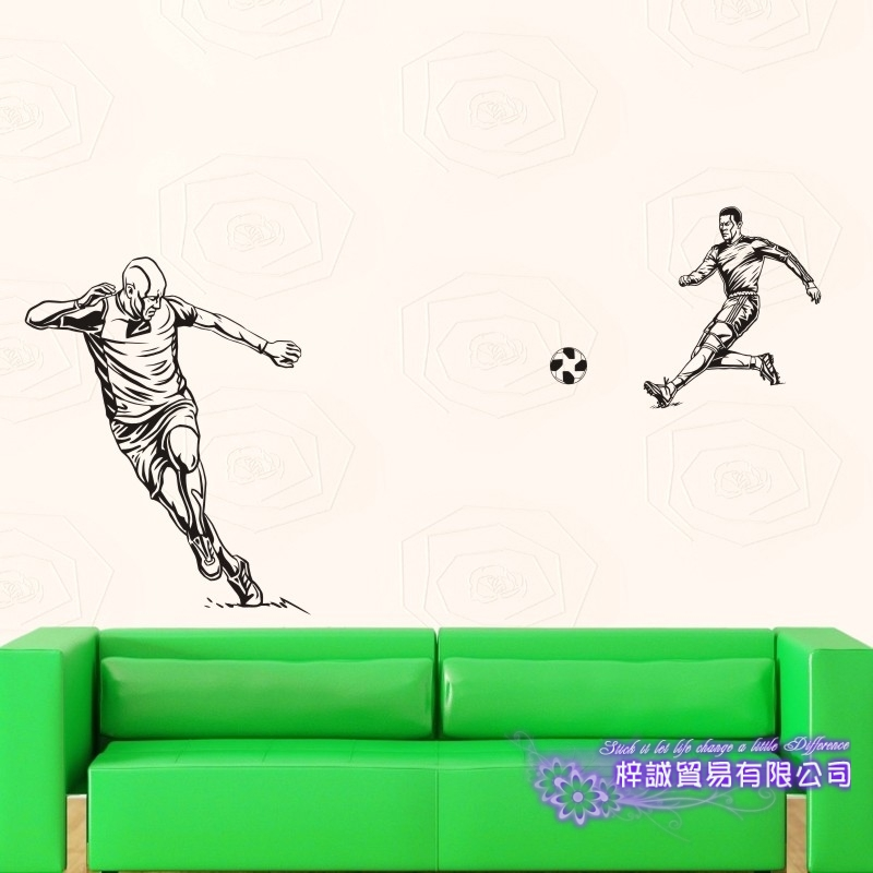 DCTAL Football Player Sticker Football Game Soccer Decal Helmets Kids Room Posters Vinyl Wall Decals F8