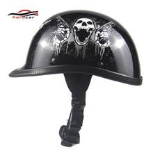 New Vintage German Style Motorcycle Helmet Motorbike Cruiser Scooter Touring Half Helmet Retro Casco Moto Helmet Capacete DOT