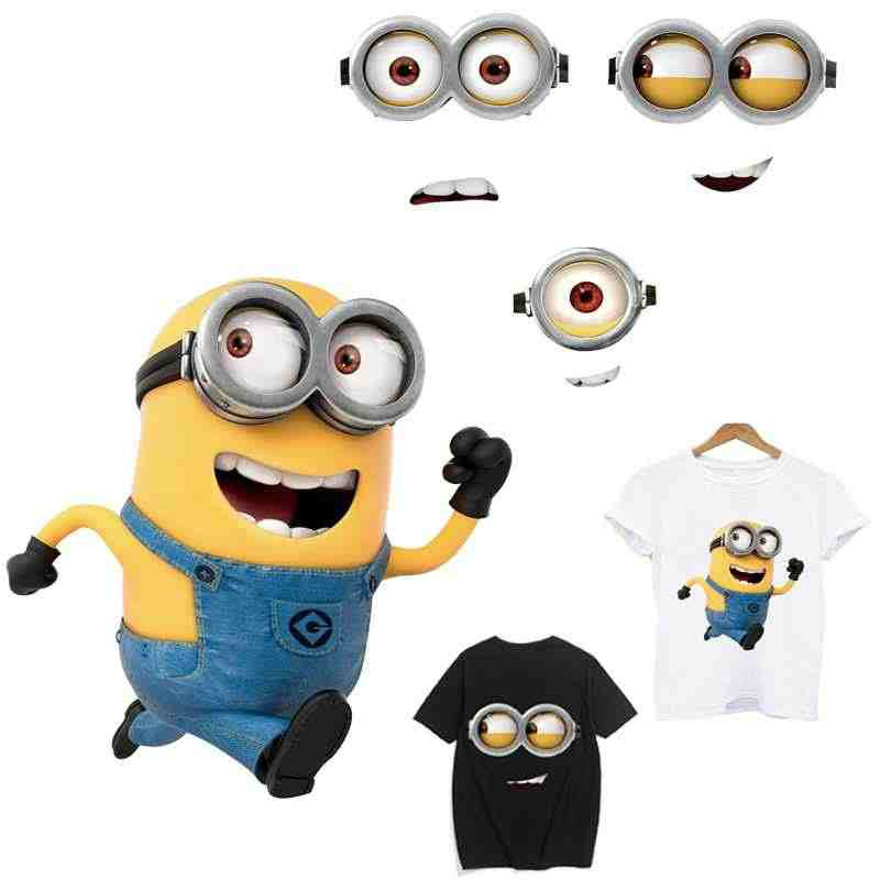 Transfert thermocollants t-shirt 비열한 me minions 패치 의류 용 다림질 응용 프로그램 iron on patches stripe applique