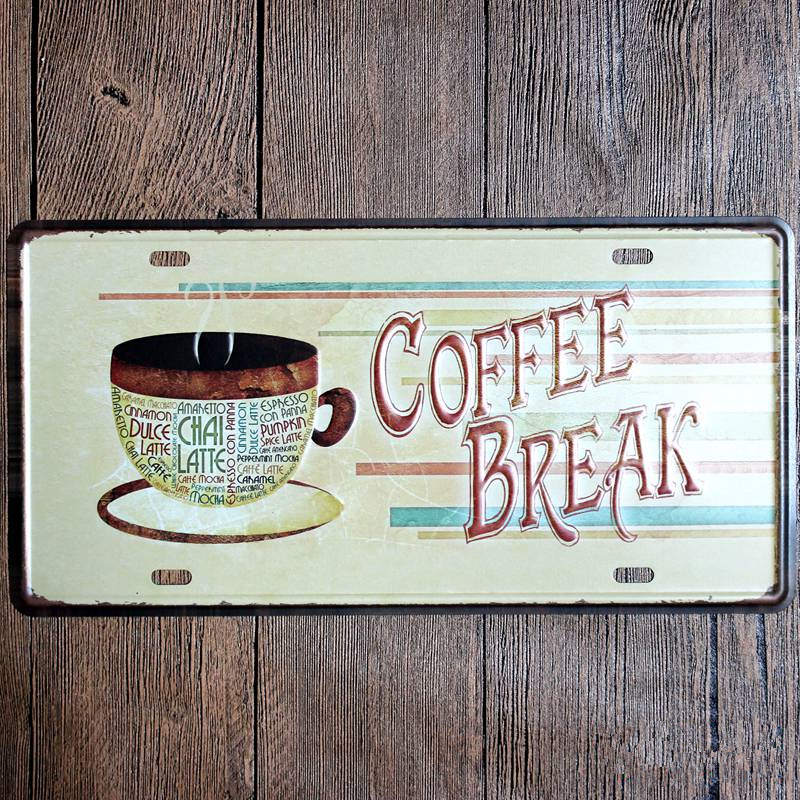 Cafe Metal Tin Sign Coffee Pub Club Gallery Poster Tips Vintage Plaque Wall Cafe Decor Plate 15*30CM-in Plaques \u0026 Signs from Home \u0026 Garden on Aliexpress.com ... & Cafe Metal Tin Sign Coffee Pub Club Gallery Poster Tips Vintage ...