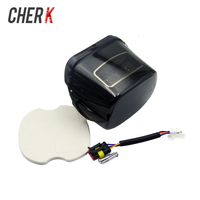 Cherk 1PCS Black Motorcycle Tail Light Assembly Smoke Lens LED Tail Brake Light For Harley Electra Street Glide Ultra