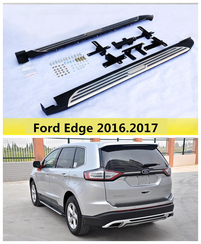 For Ford Edge 2016.2017 Car Running Boards Auto Side Step Bar Pedals High Quality Brand New Original Design Nerf Bars