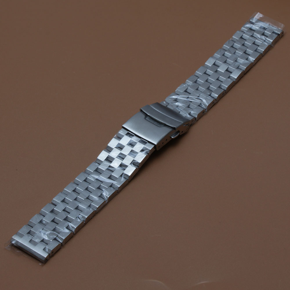 Mat urbåndrem Upoleret armbånd 18mm 20mm 22mm 24mm 26mm sølv - Tilbehør til ure - Foto 6