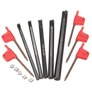 Image 5 - 5 個ボーリングバーtunringツールsclcr 6 7 8 10 12 ミリメートル 5PcsCCMT0602 挿入 95 度右手ブレード · インサート旋削工具セット