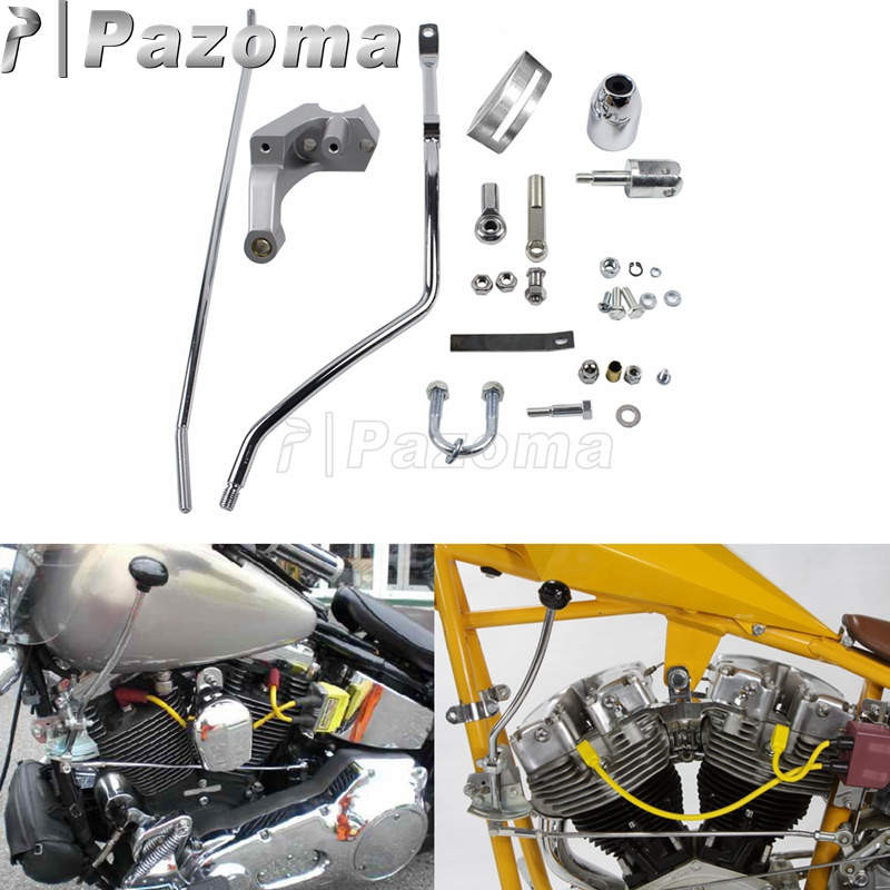 Chrome Motorbike Custom Shifter Control Kit Foot Clutch Cable Five Speed Kit For Harley Touring FLT FLHT Electra Glide 1980-2017