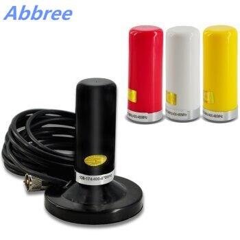 bilder für Abbree Dual Band VHF UHF Antenne HH-N2RS mit Magnethalterung & 5 Mt Koaxialkabel für Mobile Auto Radio