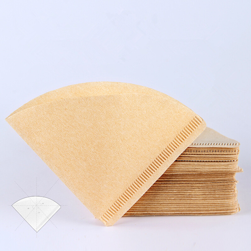 80PCS V Shape Coffee Filter Paper Cone 1-2/2-4Cup For V60 Dripper Coffee Filters Cups Espresso Coffee Drip Tools Paper Filters