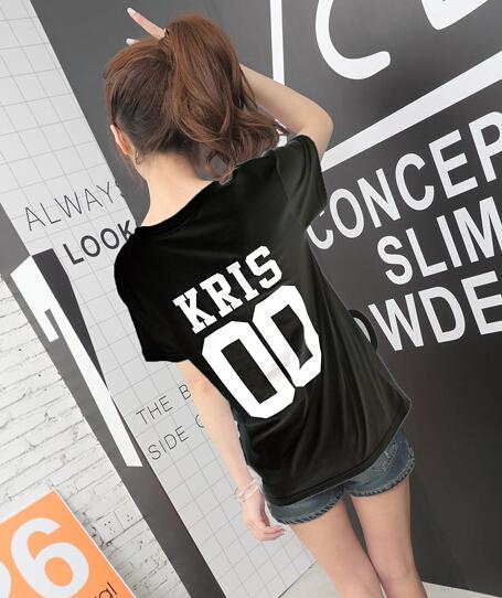 HTB1rmZWKVXXXXX6XVXXq6xXFXXXd - Summer Exo Letter Print O-neck Short Sleeve O-neck tshirt