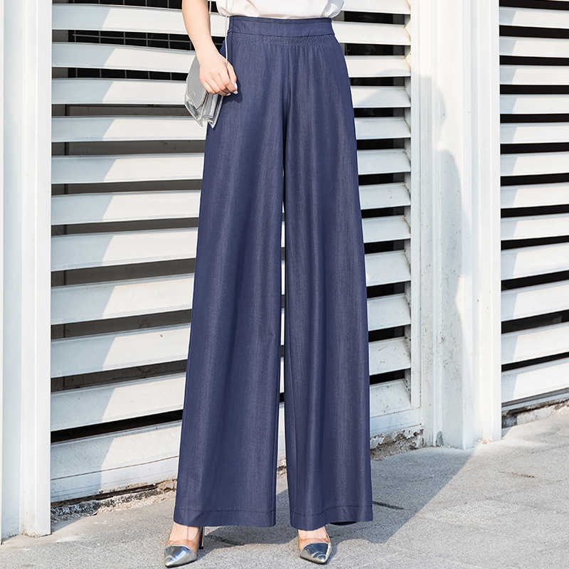 palazzo pants women 2019 summer plus size 5xl streetwear wide leg pants woman elastic waist full length gothic palazzo trousers