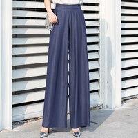 palazzo pants women 2019 summer plus size 5xl streetwear wide leg pants woman elastic waist full length gothic palazzo trousers