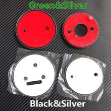 High quality Green Silver Black 90mm/80mm Emblem Badge Front Rear badge Hood Trunk wheel hub caps For Octavia Fabia Superb Yeti