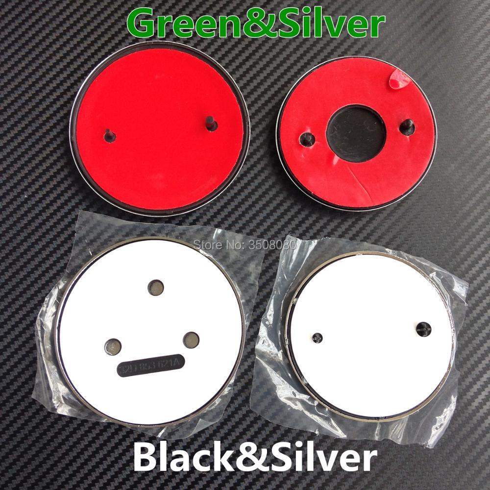 Hohe qualität Grün Silber Schwarz 90mm/80mm Emblem Abzeichen Vorne Hinten abzeichen Haube Stamm rad hub caps für Octavia Fabia Superb Yeti