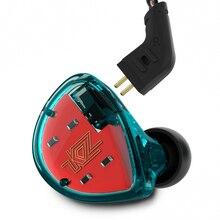 KZ ES4 1DD + 1BA Hi-Fi спорт наушники-вкладыши Динамический драйвер Шум Отмена гарнитура замена кабеля AS10 ZS10 BA10 Знч