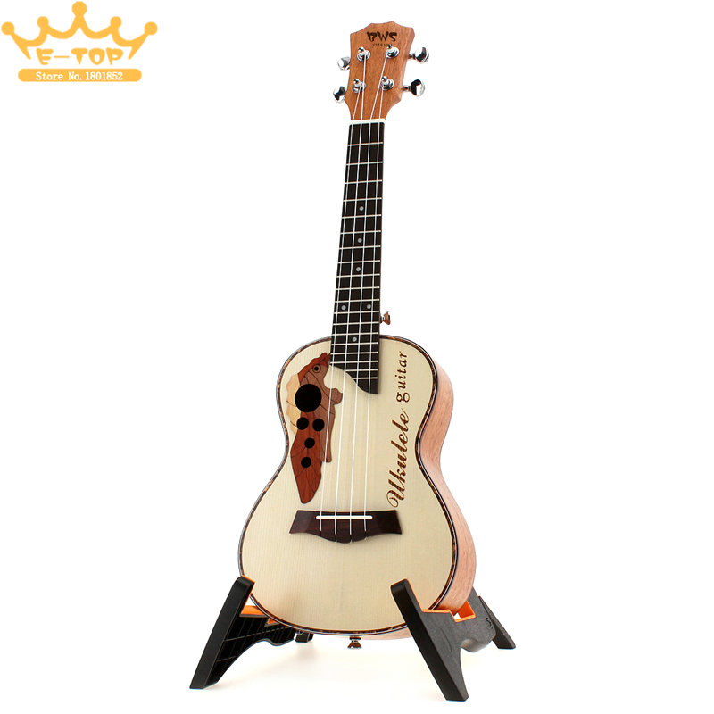 23 Inch Spruce Wood Hawaii  Four Strings Guitar Concert Ukulele  Ukelele Musical Instrument acouway 21 inch soprano 23 inch concert electric ukulele uke 4 string hawaii guitar musical instrument with built in eq pickup