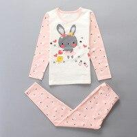 Mother Daughter Pajamas Suits 2pcs Clothes Pants Long Sleeve Autumn Sleepwear 100 Cotton Cartoon Family Matching