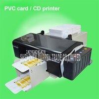 Автоматическое ПВХ ID card printer плюс 50 шт. ПВХ лоток для ПВХ карты печатная машина ПВХ белый карты/CD принт обычные краски Применение чернил