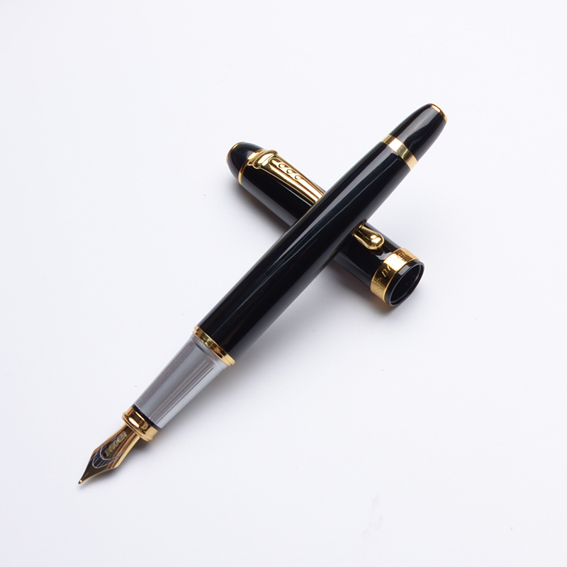 Stylo plume luxe Encre noire stylo Dolma Kalem Caneta Tinteiro Pena Plumas Estilográficas Encre De Chine Pour Calligraphie